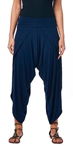 Popana Women's Casual Summer Boho Harem Jogger Pants Gaucho Culottes Made In USA Small -