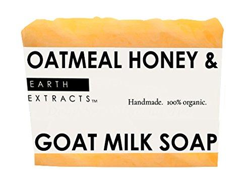 100% Natural & Organic Oatmeal Honey & Goat Milk Soap with Coconut Oil, Olive Oil, Almond Oil, Goat Milk, Honey & Oatmeal | Handmade | For Men & Women | Moisturizing | Smells Amazing! | Cruelty Free