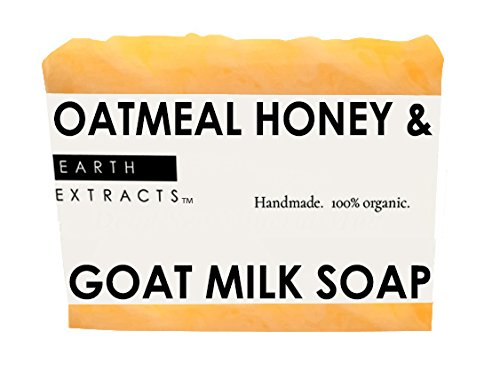 100% Natural  Organic Oatmeal Honey  Goat Milk Soap with Coconut Oil, Olive Oil, Almond Oil, Goat Milk, Honey  Oatmeal | Handmade | For Men  Women…