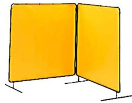 Tillman 6012066 6'X6' 14 mil. 2 Panel Yellow Vinyl Welding Curtain wit