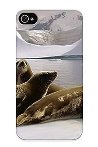 Hot Design Premium Ed02e53718 Tpu Case Cover Iphone 4/4s Protection Case (sea Lions)