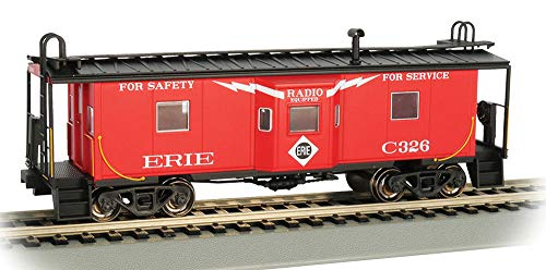 Bay Window Caboose with Roof Walk - Erie - HO Scale ()