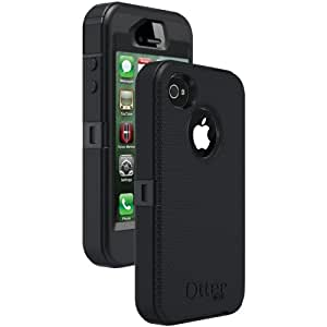 OtterBox Defender Series Case for Apple iPhone 4/4S, Retail Packaging - Black