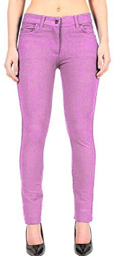 Extensible Dames Rose Longueur Janisramone Zip Pantalon Forme En Nouveau Svelte Jeggings Bébé Up Plaine Maigre Plein Femmes Un 5pqqwAI