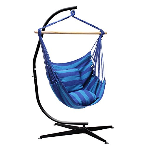 SUPER DEAL Hammock Hanging Chair Air Deluxe Sky Swing Hanging Rope Chair Porch Swing Seat Patio Camping Swing (Combo #4) (Deluxe Rope Hammock)