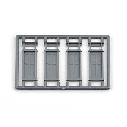 HO Scale 4 Panel Work Car Doors, Package of 8 Doors ()