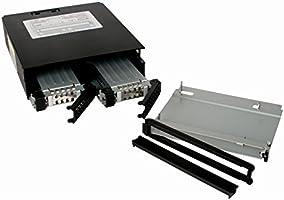 """1x Slim ODD Mobile Rack New ICY Dock MB994IPO-3SB 2x Dual 2.5/"""" SAS SATA HDD"""