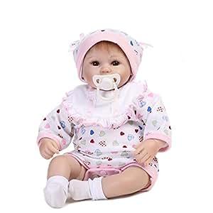 Decdeal Reborn Bebé Niña de Realista de Silicona con Chupete, 16 Pulgadas 40cm