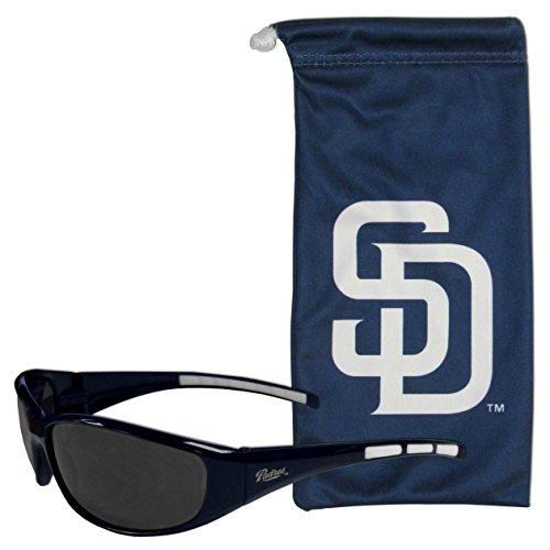 MLB San Diego Padres Adult Sunglass and Bag Set, -