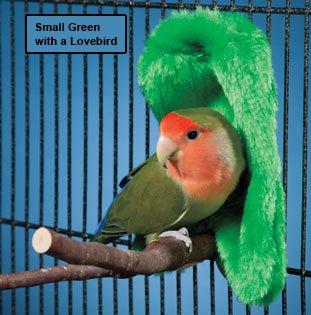 Prevue Pet Cozy Corner Fleece Bird Blanket - Medium (Green) (Corner Bird)