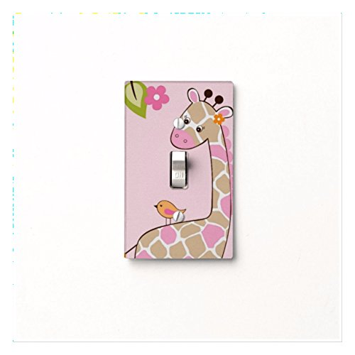 Got You Covered Jungle Jill Themed Giraffe Light Switch Cover Nursery Bedroom