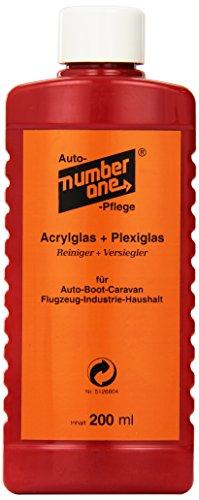 Number One no1062 Acryl und Plexiglas Reiniger inklusiv Versiegelung, 200 ml
