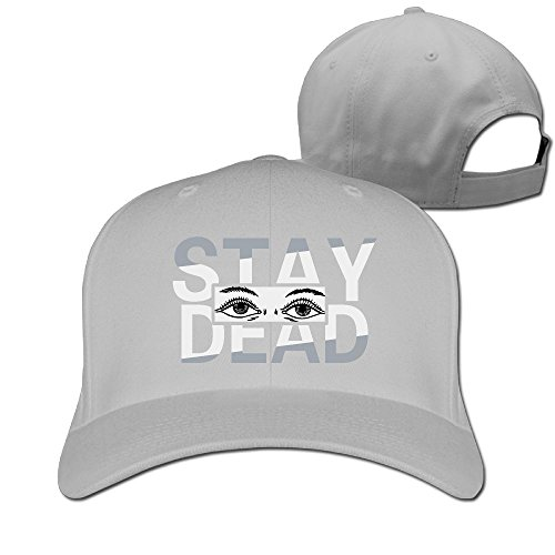 Sandwich Peaked Cap 100% Cotton Stay Dead Smile Face Eyes Personalized Style HatsNew Design Cool Hat