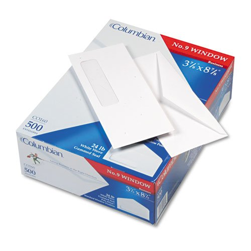 Poly-Klear Business Window Envelope, Executive Style Construction, #9, 500/Box, Sold as 1 Box, 500 Each per ()