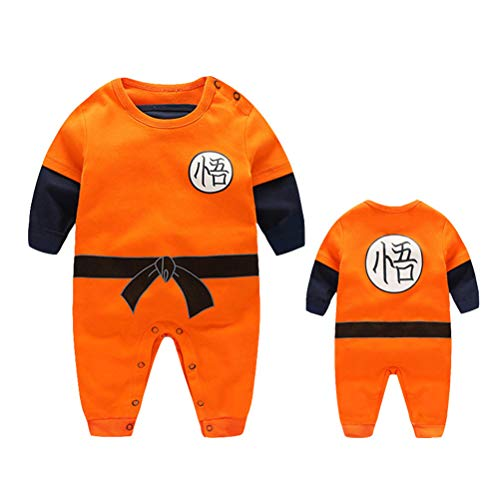 YEMOCILE Dragon Ball Z Design Baby Boys Girls Pagliaccetto Cosplay Costume Goku Ispirato Body Pigiama Bambino Tutine Vestiti