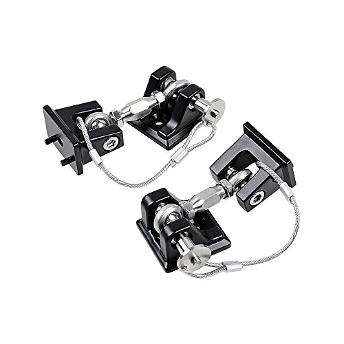 Astra Depot Pair Black Aluminum Engine Hood Lock Catch Latches Locking Hold Down Kit For 2007-2017 Jeep Wrangler JK JK Unlimited (Aluminum Latches Billet Hood)