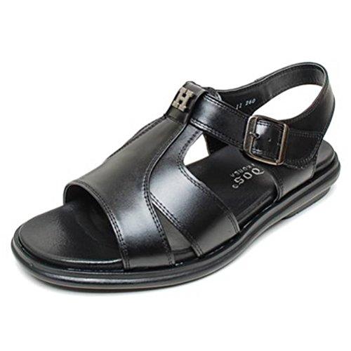 EpicStep Men's Black Genuine Leather Open Toe Gladiators Fisherman Strap Sandals Shoes 10 US -