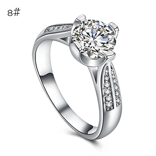 Price comparison product image Womens Rings,Lamolory Flower Crystal Wedding Ring Jewelry Accessories Rose Gold Gold Engagem
