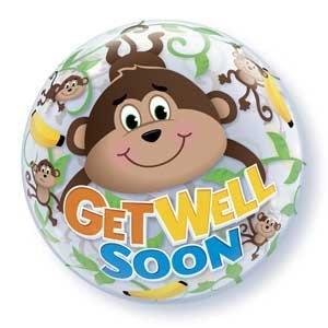 22 Bubble Get Well Soon Monkeys Balloon by Single Source Party Supplies   B01M2XJ1X3
