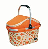 Collapsible Picnic Cooler Basket in Orange