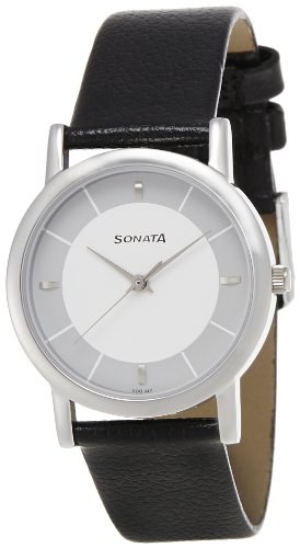 Sonata Analog White Dial Men's Watch - 7987SL01