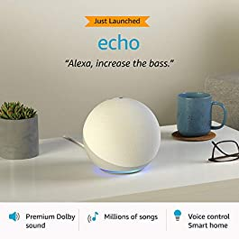 All-new Echo (4th Gen) | Premium sound powered by Dolby and Alexa (White)