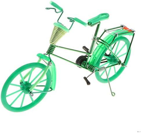 1:10スケール バイクモデル 自転車模型 バスケット付き 手芸家 家の装飾 おもちゃ 7色 - グリーン