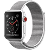 Apple watch series 3 Aluminum case Sport 42mm GPS + Cellular GSM unlocked (Silver Aluminum case with Seashell Sport Loop)