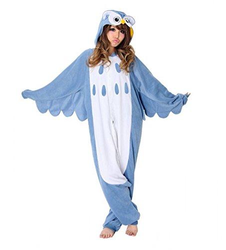 [Sweetdresses Adult Unisex Animal Sleepsuit Kigurumi Cosplay Costume Pajamas (Medium, Owl)] (Mens Owl Costumes)