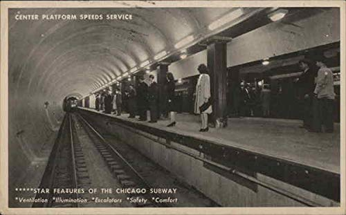 Chicago Subway Subways Original Vintage Postcard 1944