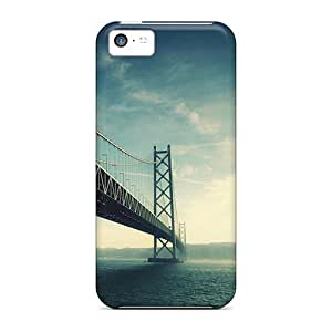 Rugged Skin Case Cover For Iphone 5c- Eco-friendly Packaging(architecture Bridge)