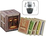 TRIBO COFFEE Single-Serve Portable Pour Over Drip Coffee | Specialty Grade - Variety | 10 Servings Per Box (Light, Medium & Med-Dark Roasts)