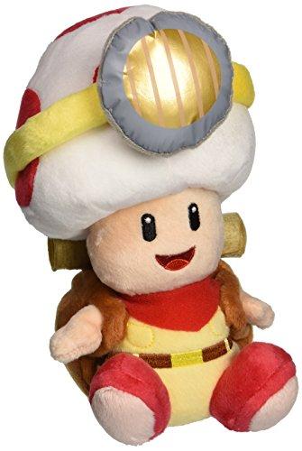 "Little Buddy Super Mario Bros. 6.5"" Captain Toad Sitting Pose Stuffed Plush"