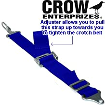 Crow Enterprizes Adjustable 2 Inch Blue Latch & Link Anti-Submarine Crotch Strap Belt