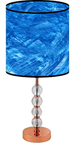 (LampPix 22.5 Inch Custom Printed Table Desk Lamp Shade Rainstorm on the Ocean. Includes Decorative Acrylic Round)