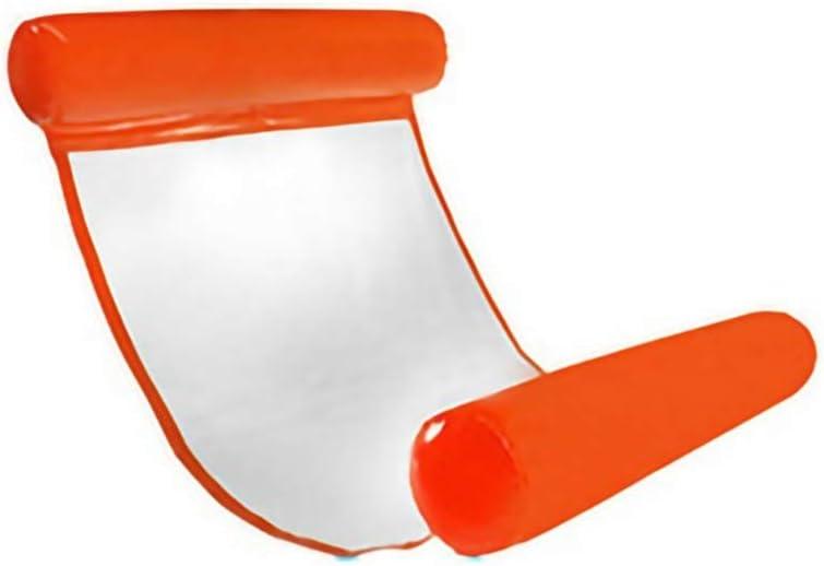 膨脹可能なハンモックの水ラウンジの椅子の折り畳み式あと振れ止めの浮遊排水 -可愛いデザイン (Color : Orange, Size : 130×73cm)