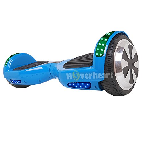 "Hoverboard 6.5"" UL 2272 Listed Two-Wheel Self Balancing Electric Scooter with Top LED Light And Bluetooth Speaker (Blue)"
