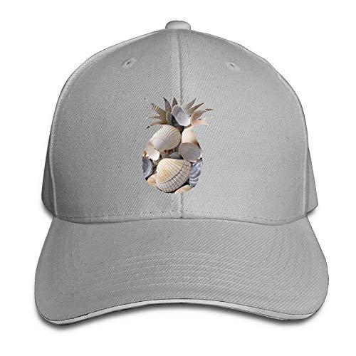NDJHEH Gorras béisbol Sandwich Baseball Caps Unisex Adjustable Hats Shell Pattern of Pineapple