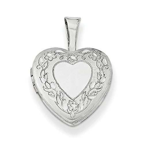 ICE CARATS 925 Sterling Silver Flower Border 12mm Heart Photo Pendant Charm Locket Chain Necklace That Holds Pictures Fine Jewelry Ideal Gifts For Women Gift Set From Heart