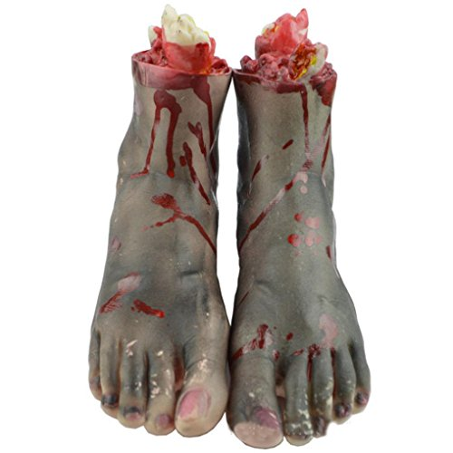 Halloween Prank Props, Malltop Horror Life Size Bloody Hand Or Foot Haunted House Party Decoration (2)