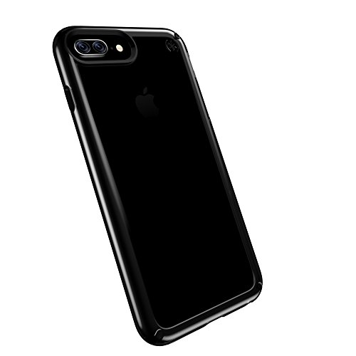 Speck 88206-5905 Presidio Show Schutzhülle für Apple iPhone 7-/6S-/6 Plus, 11,93 cm (4,7 Zoll) klar/schwarz