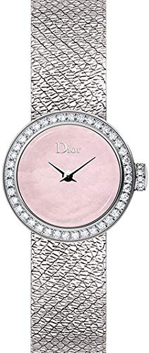 Christian Dior La D De Dior Satine Mother of Pearl Pink Dial 19mm Women's Watch