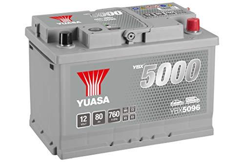 Yuasa YBX5096 High Performance Starter Battery, Silver