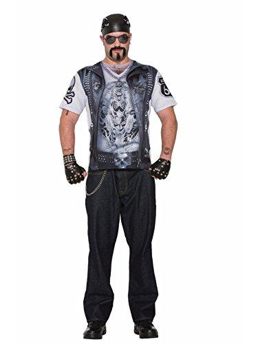 Forum Novelties Men's Printed Biker Vest