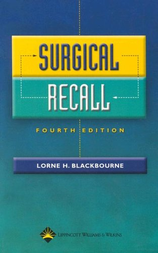 Surgical Recall (Recall Series) by Brand: Lippincott Williams n Wilkins