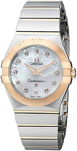 Omega Womens 123.20.27.60.55.001 Mother-Of-Pearl Dial Constellation Watch