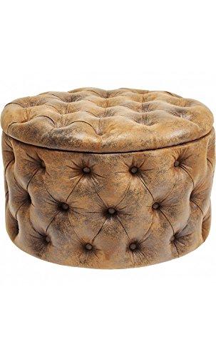 Sitzsack Aus Leder kare design sitzsack capitone effekt leder vintage braun desire