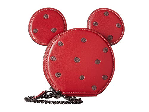 (COACH Women's Boxed Minnie Mouse Coin Case Dk/1941 Red One Size)