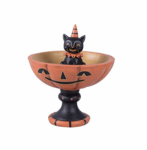 One Holiday Lane Vintage Retro Animal Halloween Candy Bowl Candy Dish On Stand Decoration