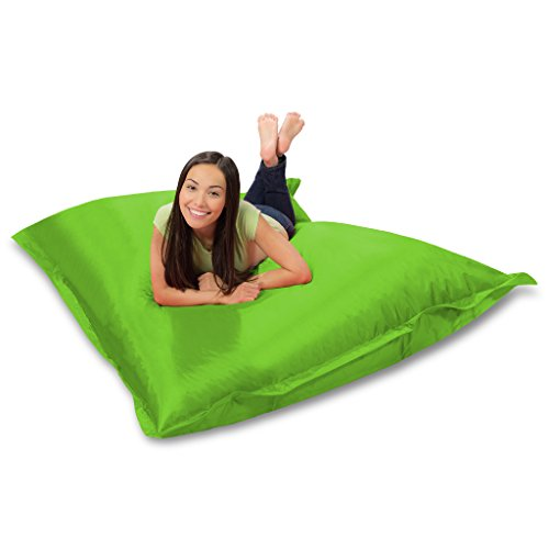 Huge Bean Bag Pillow for Playing Video Games & Watching TV, Lime by Mammoth Lounge